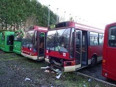 trent barton 9124 9131 Langley Mill Depot (Guy Arab UF) Tags: trent barton driver training buses 9124 l124lra 9131 m131pra volvo b10b58 northern counties paladin langley mill bus depot derbyshire wellglade group