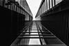 Between (Zesk MF) Tags: bw black white mono minimal up zesk windows fenster spiegelung reflection mirroring spiegeln zwischen bank
