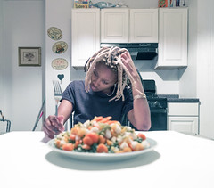 "Week 25: ""A Declaration Of Guilt"" (welchmarquette) Tags: dope kitchen photography people person food creative canon color camera canon6d talking table fun home house hair"