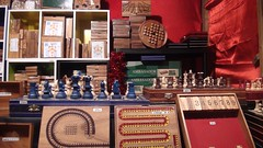 Possible christmas presents to myseff if I had money (Demy.mk) Tags: night marche noel ladefense paris france christmas presents chess wood wooden travel buy things market street streetmarket