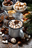 cup of hot chocolate with marshmallows and sweets (cook_inspire) Tags: cocoa chocolate marshmallow christmas beverage food dessert xmas sweet drink holiday cookies hot cup background pastry sugar nutrition delicious closeup winter aroma anise celebration aromatic happy year gourmet traditional biscuit taste confectionery eating spice gingerbread scented wooden star symbol
