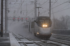 Amtrak Acela Express Train No. 2163 dashing through the snow. (Camera-junkie) Tags: canon canoneos7d canon7d canonefs18200mmf3556islens railroad railtransportation rail railroadphotography electriclocomotive amtrak amtraklocomotive northeastcorridor trains trainsphotography transportation tracks trainphotography photography photojournalism locomotive locomotives nec