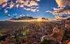 Sunset (Vagelis Pikoulas) Tags: sun sunset arachova greece travel panorama december winter 2017 tokina canon 6d village town view landscape sky colours
