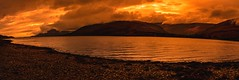 orange pano (Phil-Gregory) Tags: nikon d7200 sigma18250macro zoom locklinnhe highlands scotland scenicsnotjustlandscapes water sunset clouds lowcloud naturalphotography natural national nature nationalpark naturephotography countryside colour panorama hires