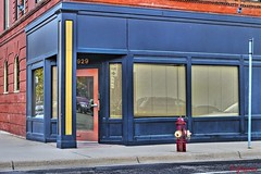HOPPER'S CORNER (panache2620) Tags: hopper art colors verticals horizontals blues colorful linear strong bold eos candid architectural exterior canon minneapolis corner