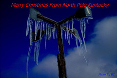 Merry Christmas Flicker Friends. (~~BC's~~Photographs~~) Tags: bcsphotographs canonsxcamera winter icicles aroundthefarm kentuckyphotos windmill closeups archivephotos ourworldinphotosgroup earthwindandfiregroup