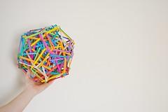 72 Interlocking Pentagons (Byriah Loper) (Byriah Loper) Tags: origami origamimodular modularorigami modular byriahloper compound paperfolding paper polygon polyhedron byriah dodecahedron pentagonal pentagon 72pentagons