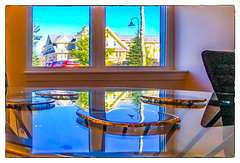Tabled (Timothy Valentine) Tags: 1217 window reflection table glass thedentist wednesday 2017 easton massachusetts unitedstates us