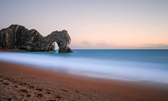 Durdle Door (ttrendell) Tags: dorset england uk landscape long exposure lee filter big stopper canon 5dmk2 sunset colours rock jurrasic coast beach sand water waves world heritage walk