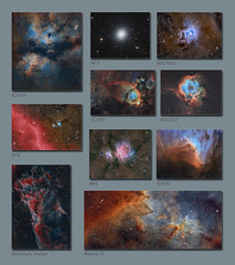 A 2017 montage of a selection of some of my astro images over the year (Sara Wager (www.swagastro.com)) Tags: astronomy space universe science nebula astro
