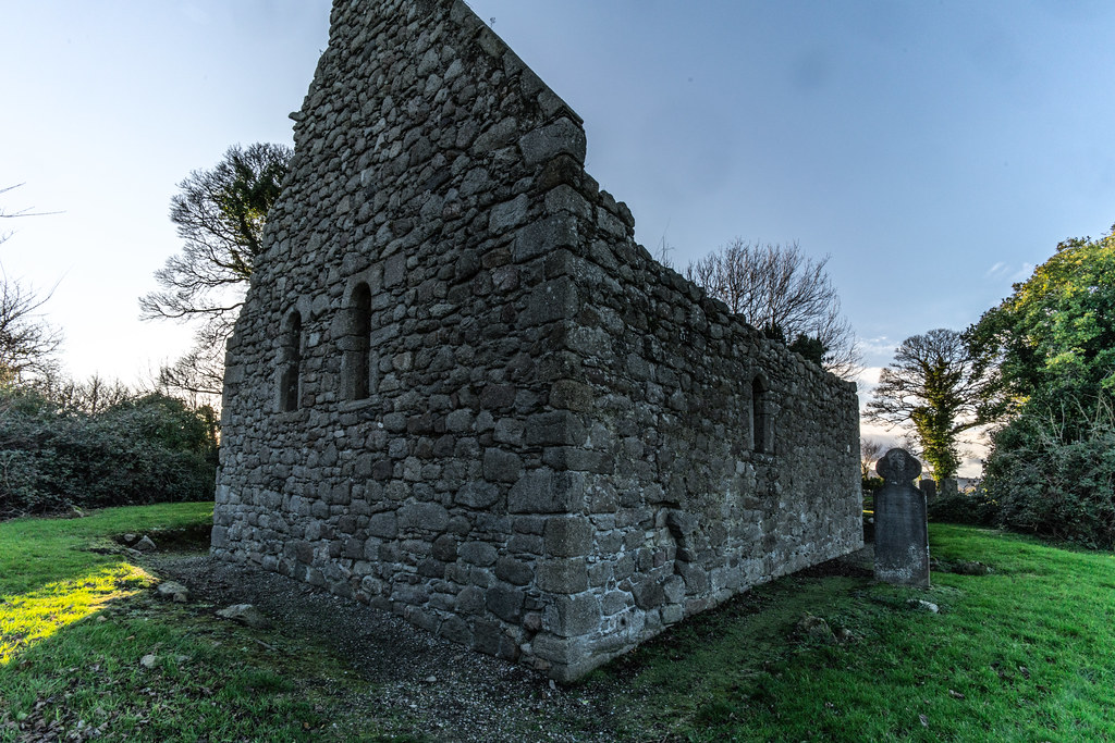 ANCIENT CHURCH AND GRAVEYARD AT TULLY [LAUGHANSTOWN LANE NEAR THE LUAS TRAM STOP]-134583