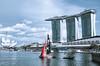 Bright sails (starlightz82) Tags: marinabay mbs singapore asia marinabaysands sailboat landscape landmark urban architecture cityscape singaporeriver lake river water