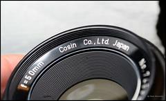 Mystery Cosin not Cosina Lens (01) (Hans Kerensky) Tags: mystery cosin cosina lens cosinon auto f19 f50mm m42 thread ring engraving error