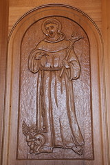 Saint Francis of Assisi (Itinerant Wanderer) Tags: newmexico santafe cathedralbasilicaofsaintfrancisofassisi wood saint catholic