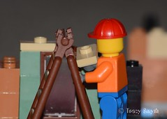Up the ladder (363/365) (Tas1927) Tags: 365the2017edition 3652017 day363365 29dec17 lego minifigure minifig