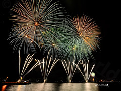Fireworks at Lisbon #4 (José M. F. Almeida) Tags: grupo luso pirotecnia lisboa lisbon ano novo new year fireworks fogo artificio tagus praçadocomercio terreiro paço years eve