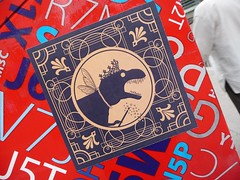 Montreal 2017 (bella.m) Tags: graffiti streetart urbanart canada art montreal sticker dinosaur dino magic crown wand
