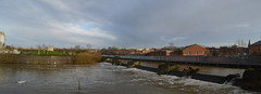 Evans Weir Panoramic (lcfcian1) Tags: leicester leicestershire town centre city evans weir panoramic panorama pano water river waterway canal