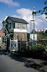 Baschurch, Shropshire, September 1984 (David Rostance) Tags: signalbox baschurch shropshire gwr mckenzieholland