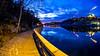 Waterside pathway (Jens Haggren) Tags: waterside pathway fence happyfencefriday water reflections lights sky clouds le longexposure svindersviken kvarnholmen nacka sweden olympus em1 jenshaggren