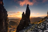 The Needle (GenerationX) Tags: barr beinnedra biodabuidhe canon6d cleat highlands isleofskye kvirand neil quiraing roundfold scotland scottish staffin theneedle theprison trotternish tròndairnis clouds dawn gloaming landscape landslip mountains sky sunrise unitedkingdom gb
