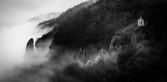 lonely (Juhwie_Fotography) Tags: mist lonely pavillion urban rocks franconian mountains franken franconia bavaria bw blackandwhite blackwhite monochrome schwarzweis beautifulgermany pentax pentaxart ngc ricohimaging samyang samyang135 rokinon landschaft landscape landscapephotography