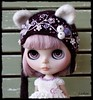 """New """"Kitty Set"""" for Neo Blythe (Leshan1) Tags: leshan leshancrochet leshanoutfit blythe leshanblythe blythecrochet lilac kitty kittyhelmet blytheoutfit"""