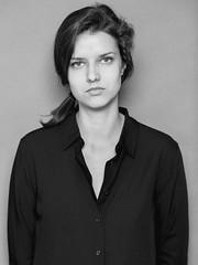Frontalité (lavilotte-rolle) Tags: women woman studio blackwhite bw noirblanc nb shirt chemise hairs portraits portrait portraiture faces visages