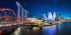 Singapore - Marina Bay Panorama 2.0 (030mm-photography) Tags: rot asia asien bay blaue city flyer hochhaus licht lights marina nachtaufnahme night nightshot panorama sands singapore singapur skyline skyscraper sonnenaufgang stadt stadtlandschaft stunde the travel view wolkenkratzer sunset sonnenuntergang