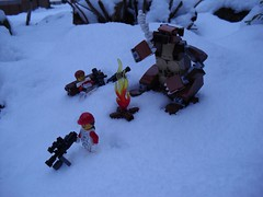 Winter Patrol (Śląski Hutas) Tags: lego moc minifigures bears scifi futuristic snow poland polska cold