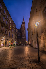 Blue hour in the old town (Vagelis Pikoulas) Tags: blue hour krakow poland travel europe canon 6d tokina 1628mm street landscape november autumn 2017