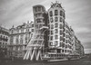 The Dancing House (Felix Vila) Tags: tram prague praha czechrepublic building architecture blackandwhite thedancinghouse