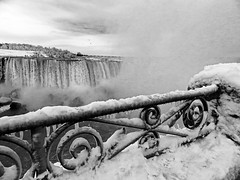Niagara Falls in Winter (exposphotography) Tags: niagara falls winter cold frozen views water ontario canada canadian city exposphotography expos snow blackandwhite blackwhite