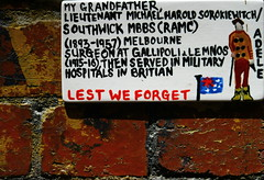Legacy on the Mind. (RICHARD OSTROM) Tags: kids war australia melbourne young guys killers open historic you power infection pride up time loud love life 2017