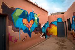graffiti - tats cru, daze - school oulad bouzid, marrakesh (urbanpresents.net) Tags: bio daze graffiti jardinrouge kersavond marrakesh montresso morocco publicart school schoolouladbouzid streetart tatscru urban urbanart urbanpresentsnet