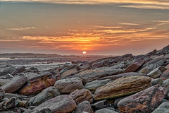 Lie Low (JustAddVignette) Tags: australia collaroy dawn landscapes longreef lowtide newsouthwales northernbeaches ocean rocks seascape seawater sky sun sunrise sydney water