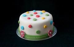Chocolate & Fondant Birthday Cake (terencepkirk) Tags: cake canon chocolate birthday food fondant 550d flowers icing white