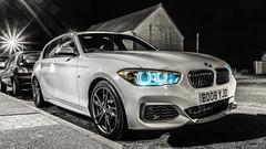 Angelic Evil (Tidyshow) Tags: bmw booby m140i beast supercar white black bw night dark shutter sony a77ii f16 manfrotto scotland moray buckie sigma 1020 f35