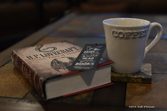 Coffee and A Book (scottnj) Tags: book books read reading coffee coffeecup hplovecraft bookmark scottnj scottodonnellphotography 365project 5365 365the2018edition 3652018 day5365 05jan18 coaster horror