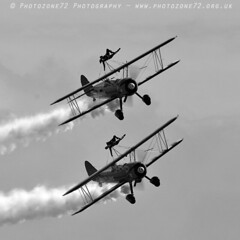 3421 Wingwalkers (photozone72) Tags: eastbourne airshows aircraft airshow aviation breitlingwingwalkers breitling wingwalkers boeing stearman biplane canon canon7dmk2 canon100400f4556lii 7dmk2