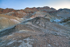 A timed-exposure - the road leaving Artist's Palatte as dawn creeps near (Tackshots) Tags: deathvalley artistspalette artistsdrive timedexposure dawn morning
