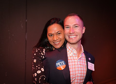 2018.01.06 Out for Pete II with Martin O'Malley and Danica Roem, Washington, DC USA 2-20