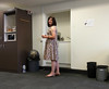 Getting A Cuppa (justplainrachel) Tags: justplairachel rachel work selfie frock dress prit floral liberty selfir selfportrait tranny transvestite tgirl trans transgender feminine retro office wollongong