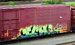 ICH (timetomakethepasta) Tags: ich ichabod yme 63 freight train graffiti art boxcar benching selkirk new york am