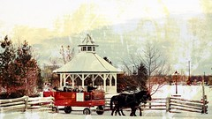 An Artistic Interpretation (Note-ables by Lynn) Tags: wagon horses painterly winter artistic