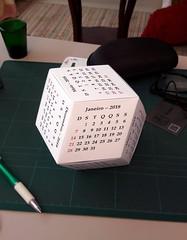 Calendário 2018 para Brasil (orig4mi.) Tags: calendar rhombicdodecahedron brazil