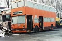 img2234  NKU 572R Norths Sherburn 8-1-94 (marktriumphman) Tags: leyland fleetline east lancs south yorkshire yourbus north scrapyard
