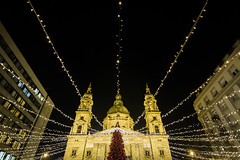 Christmas Markets (Chris B70D) Tags: budapest buda pest hungary capital city europe travel travelling citybreak holiday break winter december 2017 urban photography landscape architecture buildings texture detail composition reflectionc material form photo trip pov night day christmas market glass stone brick view scene canon 70d 18135 1116 tokina ultra wide angle zoom focus raw edit framed sky beautiful mosque cathedral church street clear spa thermal cold freezing degrees cars windows photographer long exposure swoosh shutter speed