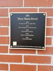 M 201 W. Main, State Bank, Historical Plaque, Monticello, IL 20171010 (RLWisegarver) Tags: piatt county history monticello illinois usa il