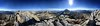 Panorama from Echo Peaks - Yosemite (Bruce Lemons) Tags: sierranevada mountains backpacking hike hiking wilderness landscape california yosemite lake sunset panorama cathedralpeak echopeaks mathescrest unicornpeak echolake mark